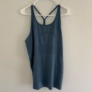 Lululemon Run Swiftly Blue Tank Top Size 10